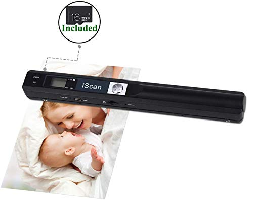 """Portable Scanners for Documents, Receipts, 900DPI, 16G Memory Card Included, MUNBYN Photo Scanner for Computer, Laptop. 8.27"""" Width of Scanning.(Support JEPG, PDF, Word, Excel, TXT) USB Port."""