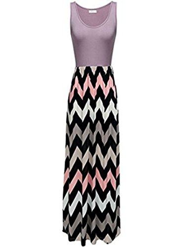 Pink And Purple Striped Dress - 6