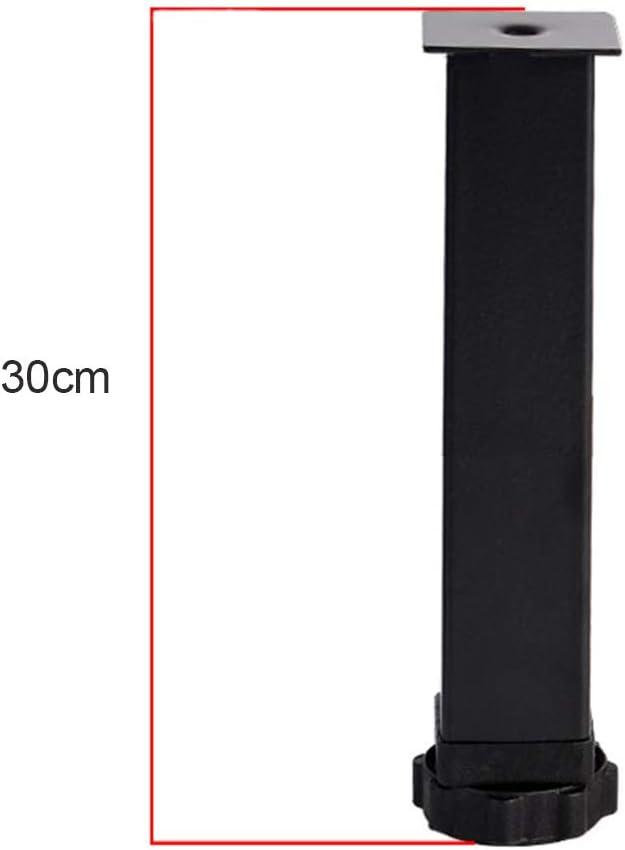 Furniture Legs Pieds de Support pour Meubles Pied de lit 4 Pieds Pied r/églable en Acier Inoxydable pour Pied de lit