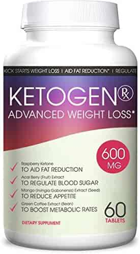 Ketogen RX Keto Diet - Weight Loss Advanced - Burn Fat Not Carbs - Keto Supplement for Natural Weight Loss - 30 Day Supply