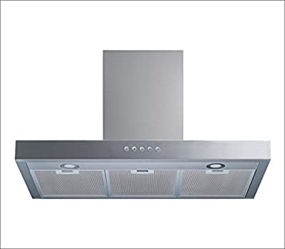 "Winflo 30"" Wall Mount Stainless Steel Convertible Range Hood with 450 CFM Air Flow, Aluminium Mesh Filters and LED Lights"