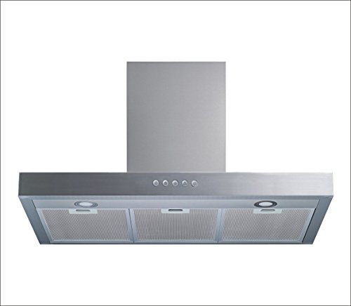 Winflo 30″ Wall Mount Stainless Steel Convertible Range Hood with 450 CFM Air Flow, Aluminium Mesh Filters and LED Lights