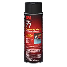3M 77 Super Multipurpose Adhesive Aerosol, Clear 16.75 Oz. Aerosol Can