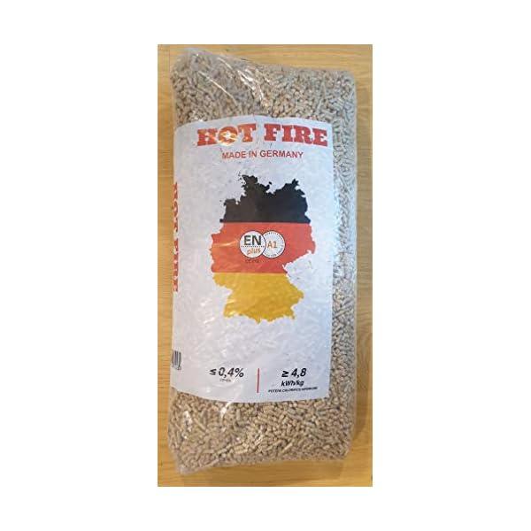 PELLET abete HOT FIRE 60 sacchi da 15 Kg di puro legno vergine di abete tedesco - ENPLUS A1