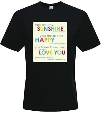 Custom Black cotton tee - DIY Alpaca t-shirts Small