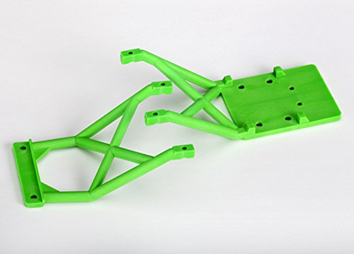 Traxxas 3623A Front and Rear Green Skid Plates (Traxxas Parts Green)