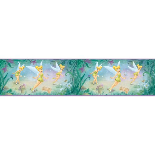 Blue Mountain Wallcoverings DS026271 Very Fairy Tinker Bell 5-Inch Self-Stick Wall Border