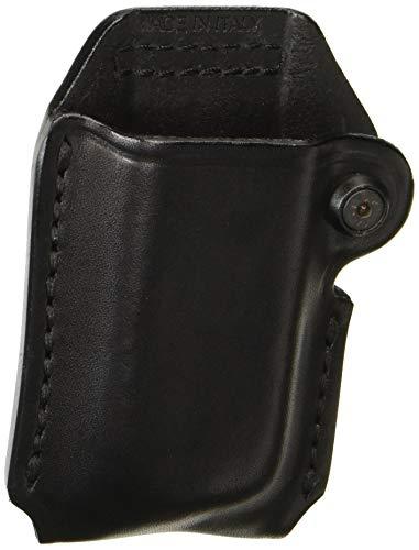 BLACKHAWK! Leather Magazine Pouch (Double Row Ambidextrous), Black, (9 mm/ 10mm/.40 Cal/ .45 Cal )