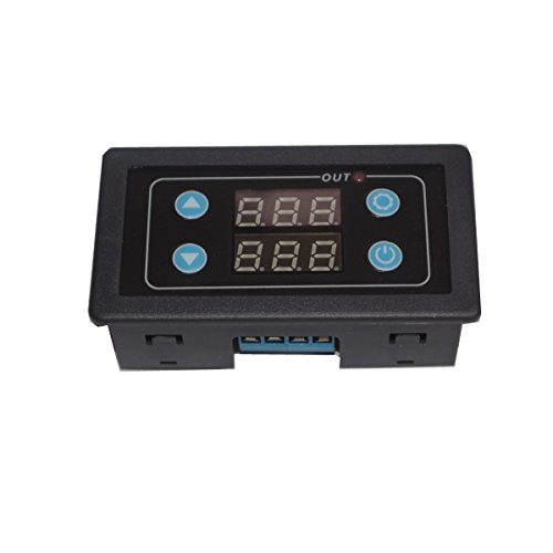 Icstation Programmable AC110V 1 Channel Digital Cycle Delay Relay Timer Switch LED Display 0-999 Hours (Relay Repeat Delay Cycle Time)