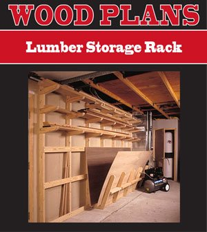 Lumber Storage Rack Woodworking Paper Plan Pw10078