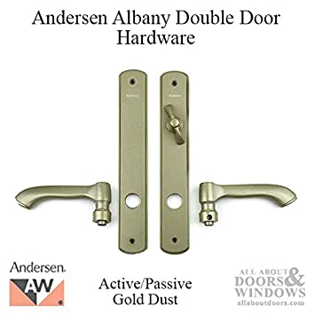 Andersen Albany Style Double Active Hinged Door Hardware Set In