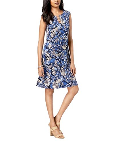 (JM Collection Sleeveless O-Ring Shift Dress (West Palm, M))