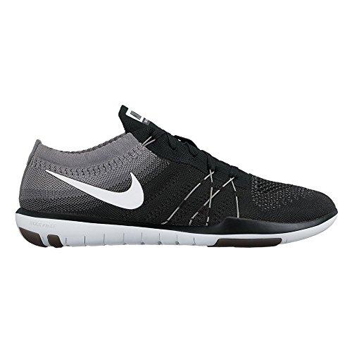 Nike Womens Free Focus Flyknit Training Shoe Black/White-Cool Grey 6 B(M) US