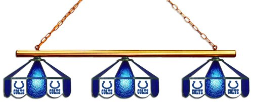 - Imperial Officially Licensed NFL Merchandise: Tiffany-Style Stained Glass Billiard/Pool Table 3 Shade Light, Indianapolis Colts