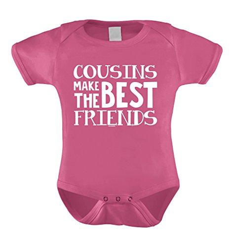 Cousins Make The Best Friends Infant Bodysuit (Pink, 12 Months) (Best Infant Friend Bodysuit)