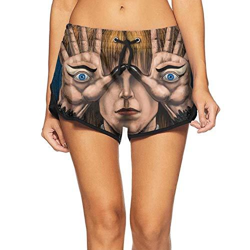 ArNSports Beachwear Shorts for Women Pan's-Labyrinth-Starring-David-Bowie- Bathing Suit Stretch Swim Trunks