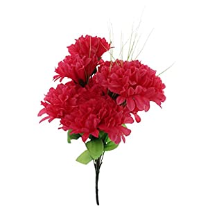 Artificial Chrysanthemum Bouquet Home Decor Grave Cemetery Flower - Hot Pink 41