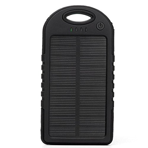 Welcome Nook Portable Solar Cell Phone Charger | 5000mAh Solar Charger | Waterproof & Shockproof | Dual USB power bank | Panel Battery Chargers for Smart Phone, iPhone 7, Tablets, Cameras, Mobiles