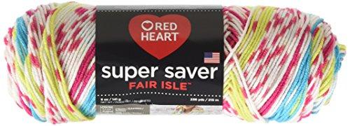 Red Heart Super Saver Fair Isle Yarn, (Fair Isle Heart)