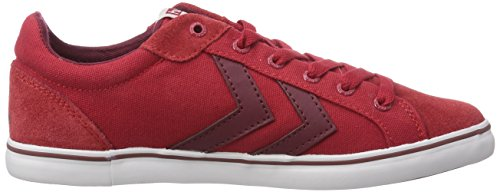 hummel HUMMEL DEUCE COURT SUMMER - zapatilla deportiva de lona unisex rojo - Rot (Ribbon Red 3425)