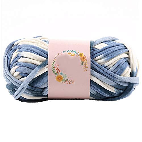 (Colorful DIY T-Shirt Yarn Spaghetti Yarn Recycled Yarn Woven Yarn DIY Crochet Cloth Fancy Yarn Chunky Jersey Yarn 100g/0.22lb Thick Fabric Yarn Colorful-11)