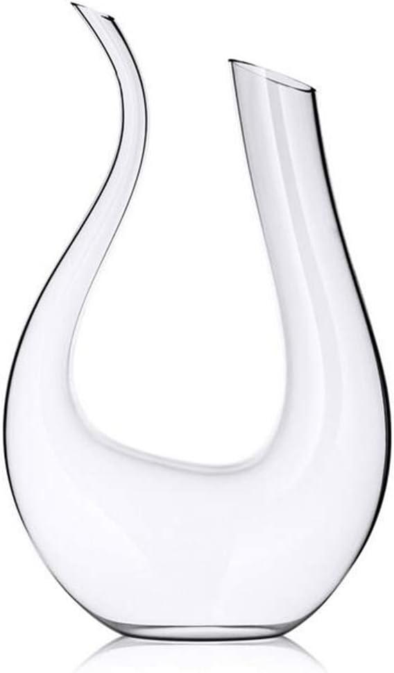 HALAWAKA Carafe /à vin 100/% sans Plomb en Forme de U en Cristal Carafe /à vin Carafe /à vin Rouge souffl/ée /à la Main