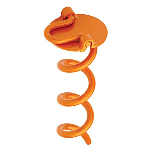 Liberty Outdoor ANCHFR8-ORG-A Folding Ring Spiral Ground Anchor, Orange, 8-Inch
