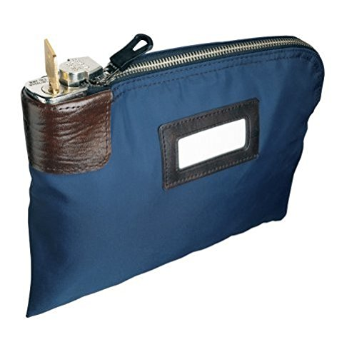 MMF Industries Seven-Pin Security/Night Deposit Bag with 2 Keys, 11 X 8-1/2 Inches, Navy (233110808) ()