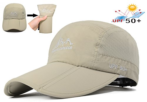 Baseball Cap Quick Dry Travel Hats UPF50+ Cooling Portable Sun Hats for Sports Golf Running Fishing Outdoor Research with Foldable Long Large - Sun Uk Sports