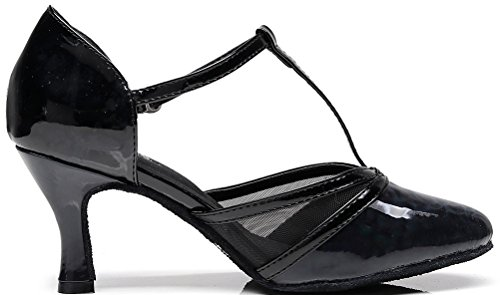 CFP - Zapatillas de danza de poliuretano para mujer negro