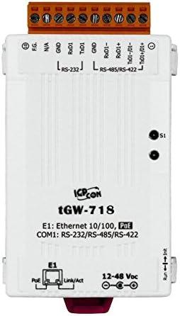 ICP DAS tGW-718 Tiny Modbus TCP to Modbus RTU//ASCII Gateway with PoE and 1 RS-232//422//485 Port RoHS