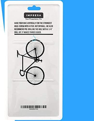 Bike Hanger / Bike Hook (Pack of 4) - Heavy-Duty, Fits All Bike Types, Easy On/Off