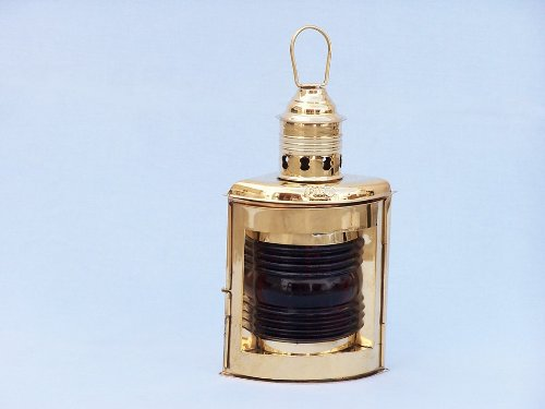 Port and Starboard Oil Lantern (Set of 2) Finish: Solid Brass by Handcrafted Model Ships (Image #1)