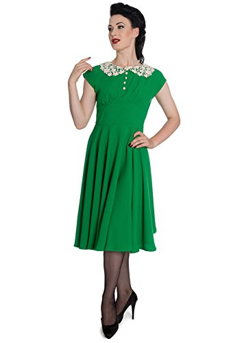 Hell-Bunny-60s-Vintage-Retro-Mod-Green-Love-Dress-S