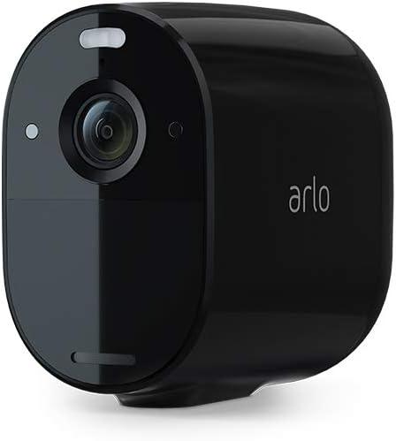 Arlo Essential Spotlight Camera | 1 Pack | Wire-Free, 1080p Video | Color Night Vision, 2-Way Audio | Direct to WiFi, No Hub Needed | Works with Alexa | Black | VMC2030B (VMC2030B-100NAS)
