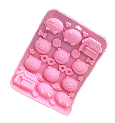 Soap Molds - Silicone Cake Mold Lovely Pig Chocolate Cute Animal Baking Soap Making Molds - Metal Dolphin Horror Mermaid Shower Angel Made Pattern Nature Animals Octopus Adult Letters Square Ov ()