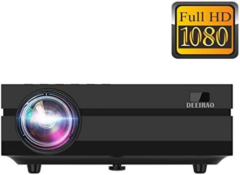 Deeirao 1080P Full HD Proyector LCD de Cine en Casa LED HDMI USB ...