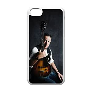 iPhone 5c Cell Phone Case White Bruce Springsteen TBK Personalized Phone Case For Girls