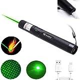 Wenxy USB Charging Flashlight Torch, Green Light