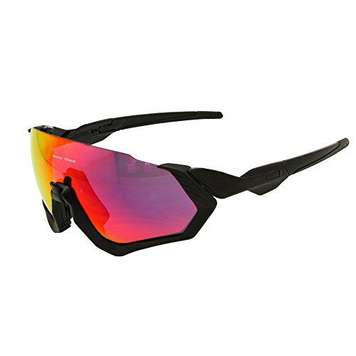 Polarized Cycling Goggles 3 Lens Kit UV400 Bicycle Sunglasses Mountain Bike MTB Outdoor Sports ()
