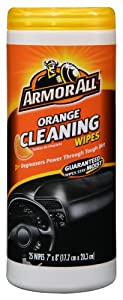 Armor All 10831 Orange Cleaning Wipe - 25 Sheets