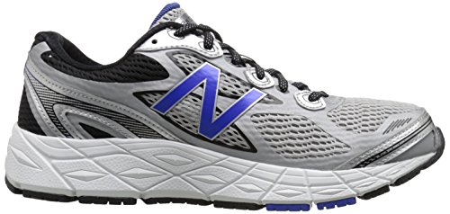New Balance Men's M840V3 Run Shoe-M, Silver/Blue, 9 D US