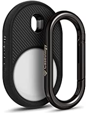 Caseology Vault Compatible with Apple AirTags Case for AirTag Keychain (2021) - Matte Black
