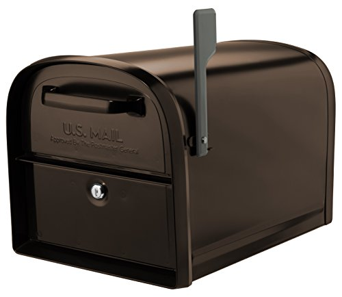 Architectural Mailboxes 6300RZ Oasis 360 Locking Parcel Mailbox with 2-Access Doors, X-Large, Rubbed Bronze
