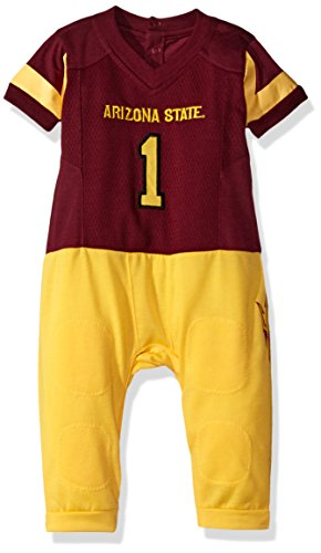 Fast Asleep Ncaa Boys Infant Football Uniform Pajamas, Arizona State Sun Devils, 9-12 Months, Maroon - Ncaa College Football Uniforms