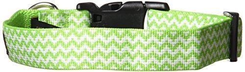 fabdog Chevron Stripe Dog Collar Lime (Medium)