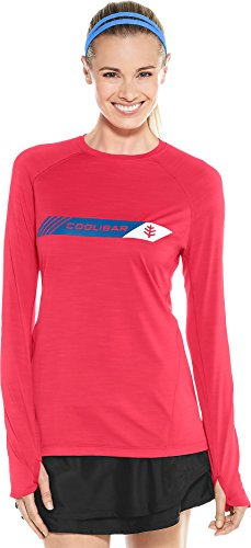 Coolibar UPF 50+ Women's Long Sleeve Fitness Graphic Tee - Sun Protective (Small- Punch ()