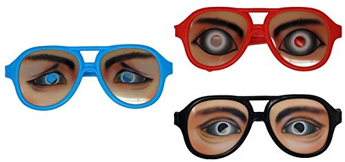 SFAM Goofy Party Glasses Funny Eyes, 3 Pack]()