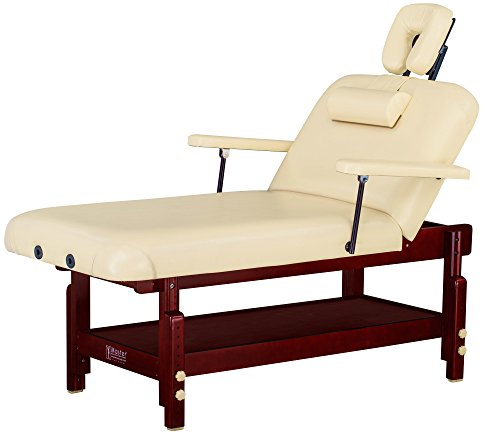 "Master Massage 31"" SpaMaster Stationary Salon Massage Table Package – Sand Color"