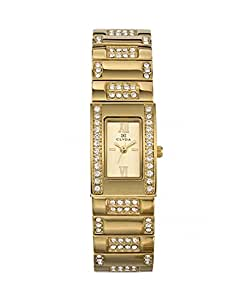 Clyda Women`s Champagne Dial Metal Band Watch [CLD0394HTRX]